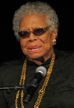 Angelou at York College in February 2013