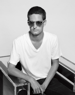 Evan Spiegel and Spectacles