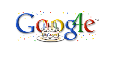 The first Google Doodle in 2002 to honor its own inception.