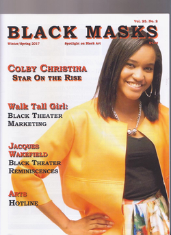 COLBY ON THE COVER OF BLACK MASKS MAGAZINE