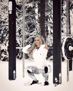 Snowy photo shoot for Workout Empire