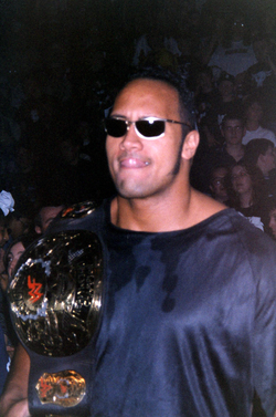 As part of The Corporation, The Rock feuded with Stone Cold Steve Austin and stole Austin's personalized WWF Championship, the Smoking Skull belt.