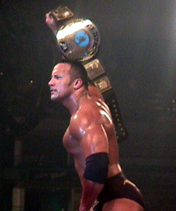 The Rock as the WWF Champion in 2000