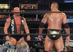 The Rock defeated Steve Austin in the latter's final match at WrestleMania XIX in 2003.