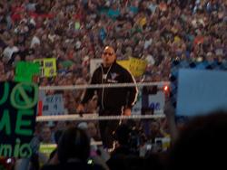 The Rock as host of WrestleMania XXVII