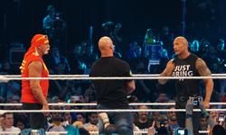 Hulk Hogan, Steve Austin and The Rock at WrestleMania XXX