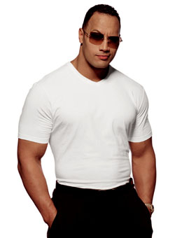 Johnson during a photo shoot for Vanity Fair in 2001