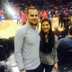 Chris Owings and his wife; this was his                               Twitter                              profile picture as of April 3, 2017