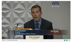 Robert Goldmanon C-SPAN3 on the Entrepreneur's Panel at the Data Transparency Coalition. September 23, 2015
