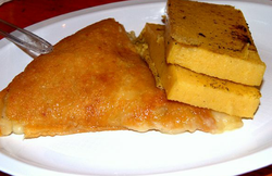 Frico and polenta. Original image from Wikipedia Commons
