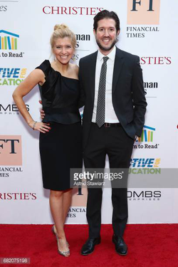 Photo of Sara Eiseh with her husband Matthew Levine at an event