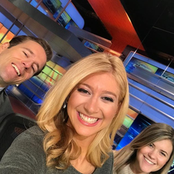 Selfie​ of Sara Eisen with co-workers at CNBC​