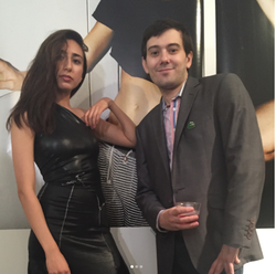 Millie Efraim and pharmaceutical entrepreneur  Martin Shkreli  ​ at her art show in 2016