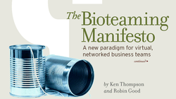 Bioteaming Manifesto. Ken Thompson with Robin Good. ebook PDF cover by Change.org, 2005.