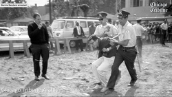 Bernie Sanders                              being detained and arrested during a protest when he was a young college student.