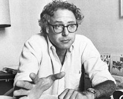 Young Bernie Sanders.