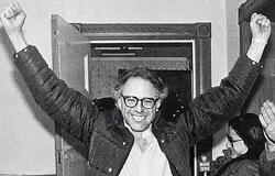 A young Bernie Sanders.