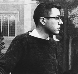 Photo of a young Bernie Sanders in the 1950s.