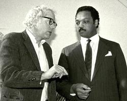 Young Bernie Sanders with Jesse Jackson.