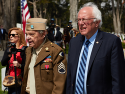 Sanders during the Memorial Day Ceremony 2016 in the Presidio of San Francisco