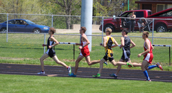 Jacob Graf leading the pack
