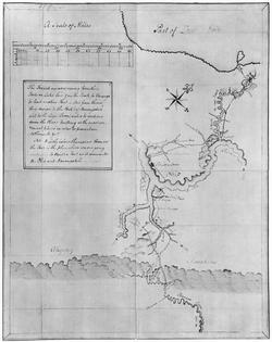 Washington's map, accompanying his                                 Journal to the Ohio                                (1753–1754)