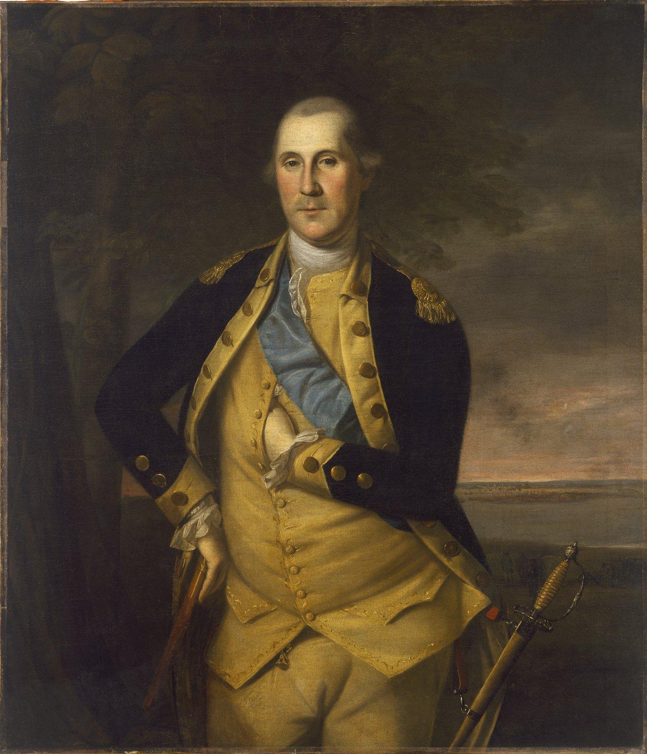 Charles Willson Peale (American, 1741–1827). George Washington, 1776. Oil on canvas, Brooklyn Museum.