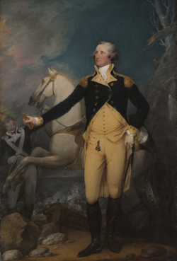 General George Washington at Trenton                                by                                 John Trumbull                                ,                                 Yale University Art Gallery                                (1792)