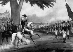 Washington taking Control of the Continental Army, 1775