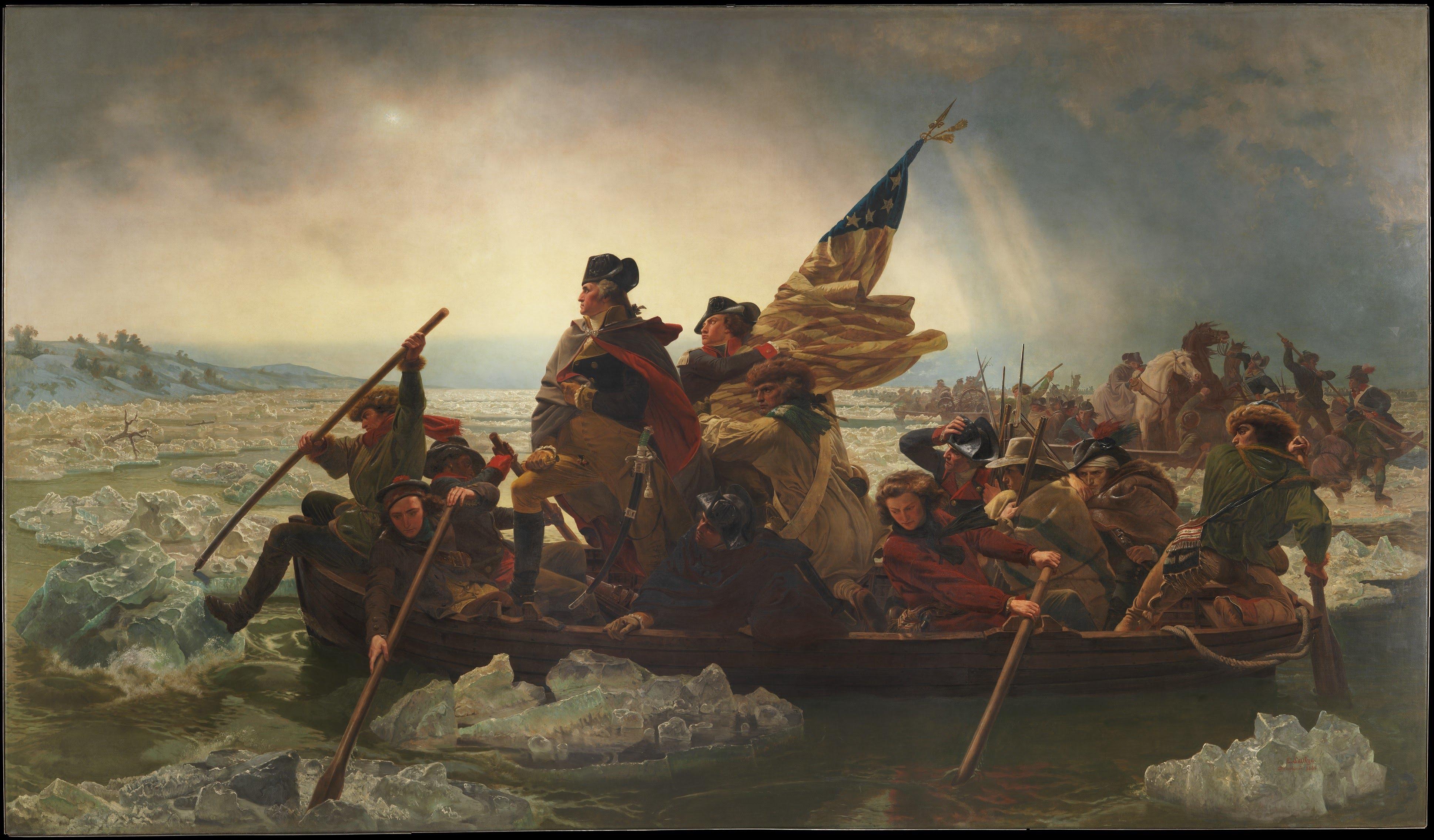 Washington Crossing the Delaware, December 25, 1776, by Emanuel Leutze, 1851