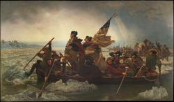 Washington Crossing the Delaware                                                 , December 25, 1776, by                                 Emanuel Leutze                                , 1851