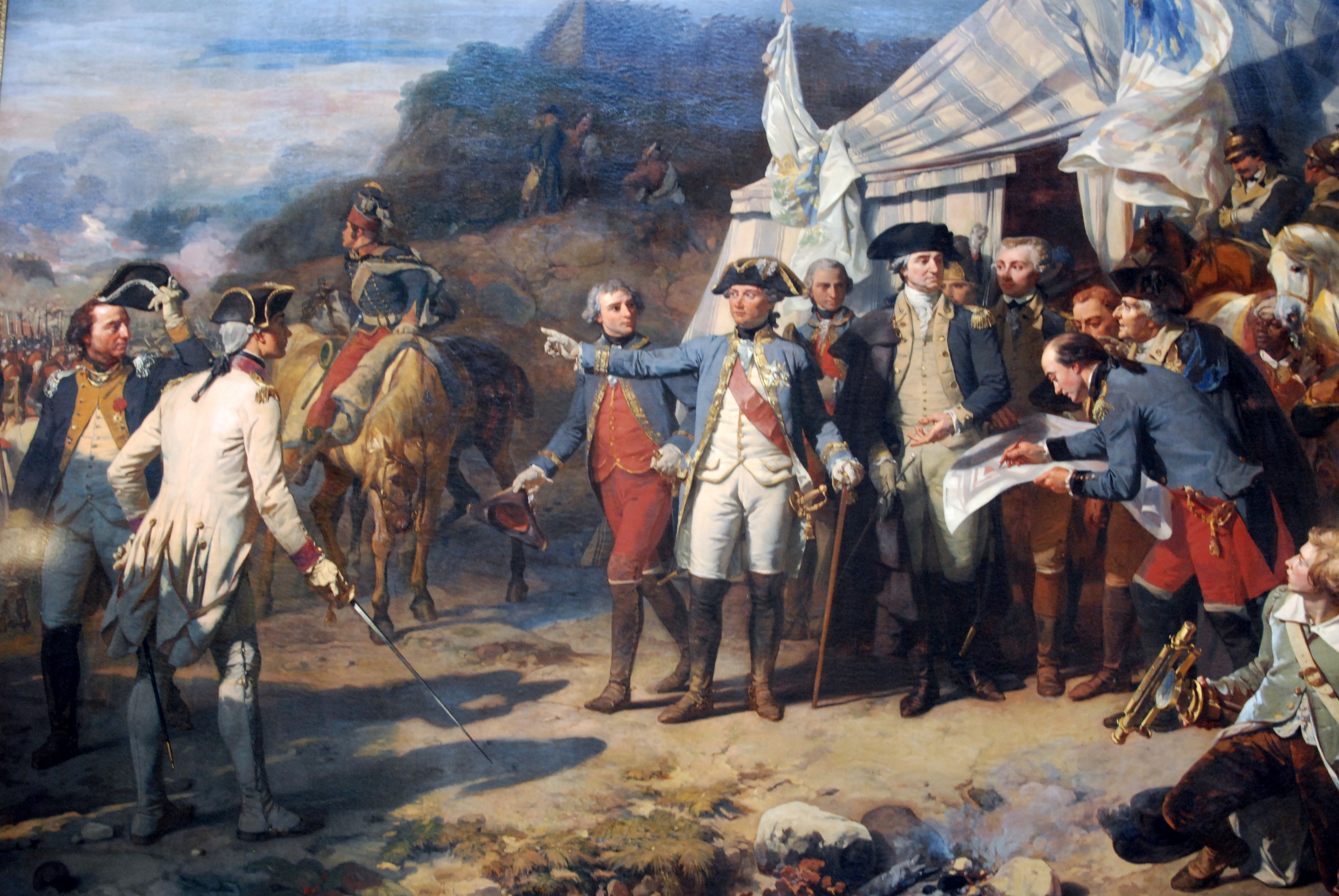 General Washington and the comte de Rochambeau at Yorktown by Auguste Couder, 1836