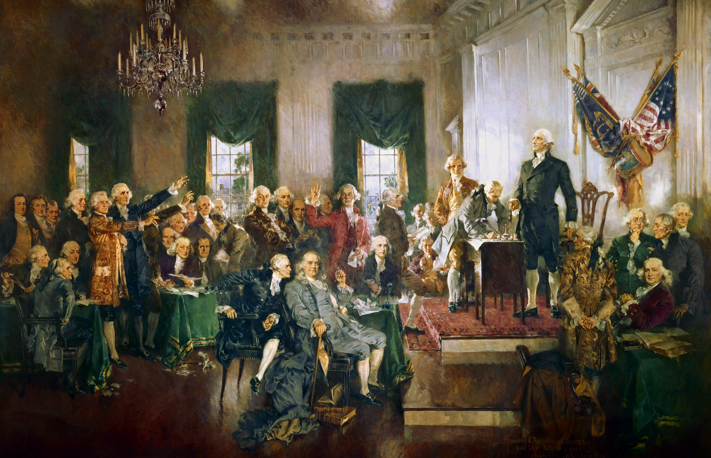 Signing of the U.S. Constitutionby Howard Chandler Christy, 1940
