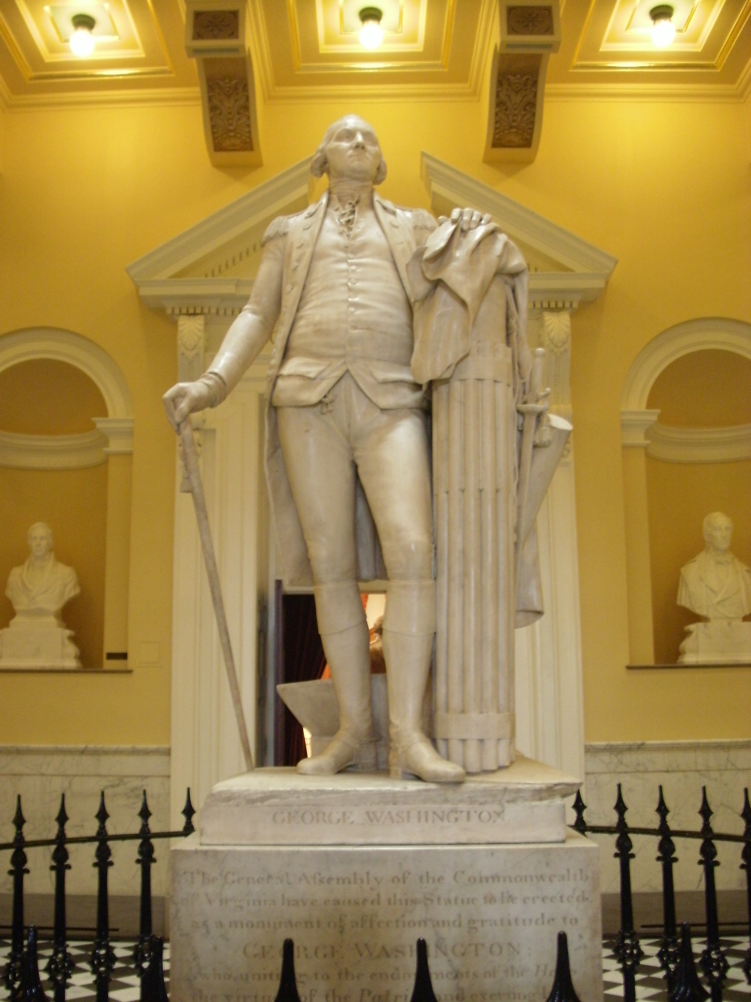 Jean-Antoine Houdon's statue, State Capitol in Virginia