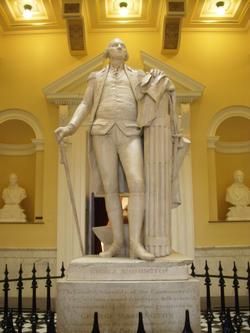 Jean-Antoine Houdon                                's statue,                                 State Capitol                                in Virginia