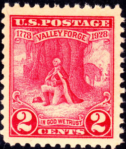 Washington at Valley Forge, issue of 1928