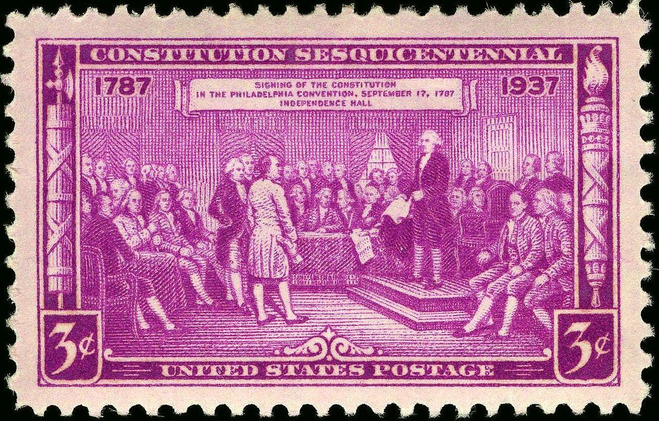 Washington as President of the Constitutional Convention, issue of 1937