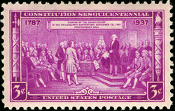 Washington as President of the                                 Constitutional Convention                                , issue of 1937