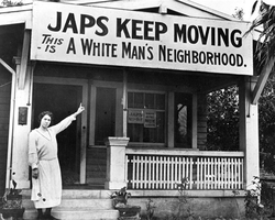 World War II bias against Japanese-American citizens.
