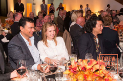 Gisel and       Omid Kordestani      ​ at a dinner
