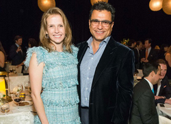 Gisel and Omid Kordestani      ​ pictured at an event