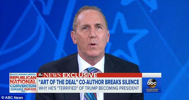 Schwartz speaking about Trump