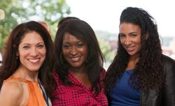 Viviana Hurtado (left), Maureen Umeh (center), and Alison Beshai (right); photo taken for the September issue of       DC      magazine)