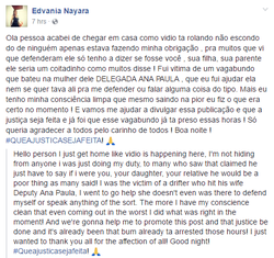 FacebookPost about the incident fromEdvania Nayara