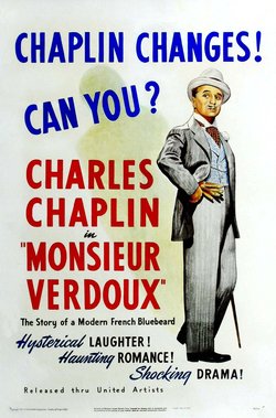Monsieur Verdoux (1947), a dark comedy about a serial killer, marked a significant departure for Chaplin. He was so unpopular at the time of release that it flopped in the United States.