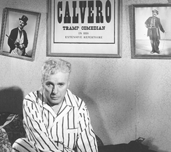 """Limelight (1952) was a serious and autobiographical film for Chaplin: his character, Calvero, is an ex music hall star (described in this image as a """"Tramp Comedian"""") forced to deal with his loss of popularity."""