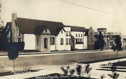 A 1922 image of Charlie Chaplin Studios, where all of Chaplin's films between 1918 and 1952 were produced