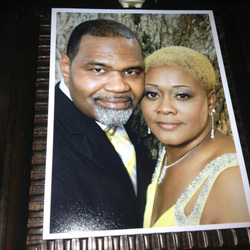Kim King-Macon with her husband