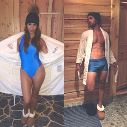 Vanesa Grimaldi and       Nick Viall      (       The Bachelor (season 21)      ) in bathing suits; source:       Instagram      , March 9, 2017