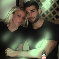 Photo Sam Asghari posted on Instagram of him and Britney Spears at a local Japanese restaurant (November 2016); it has since been deleted from his account
